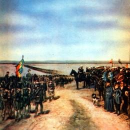 Inaugurarea monumentului funerar în memoria conaţionalilor noştri care au decedat în războiul ruso-japonez